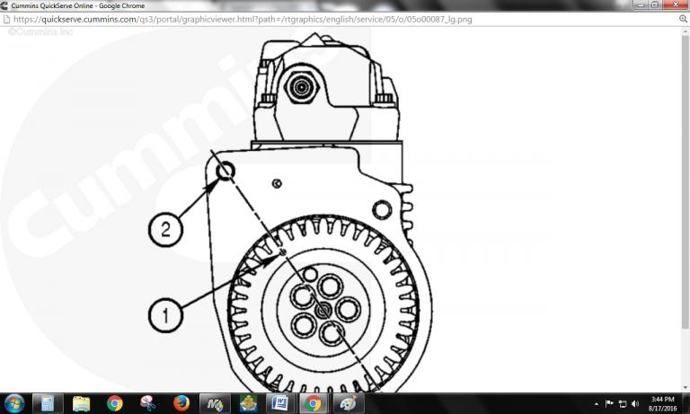 Installing fuel pump cm2250