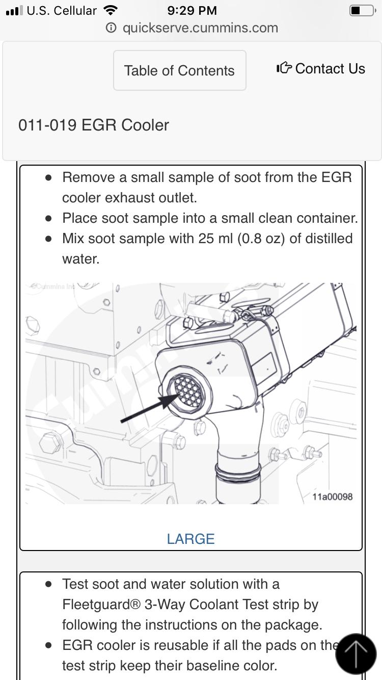 CM 871 Code 2639, DPF won't clean